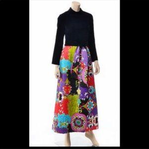 Size 14 vintage Asian hostess Velvet quilted